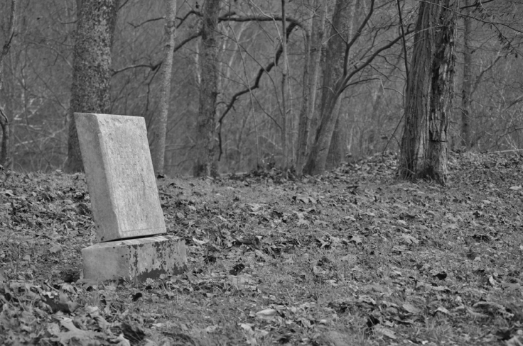 leaning headstone b&w for web